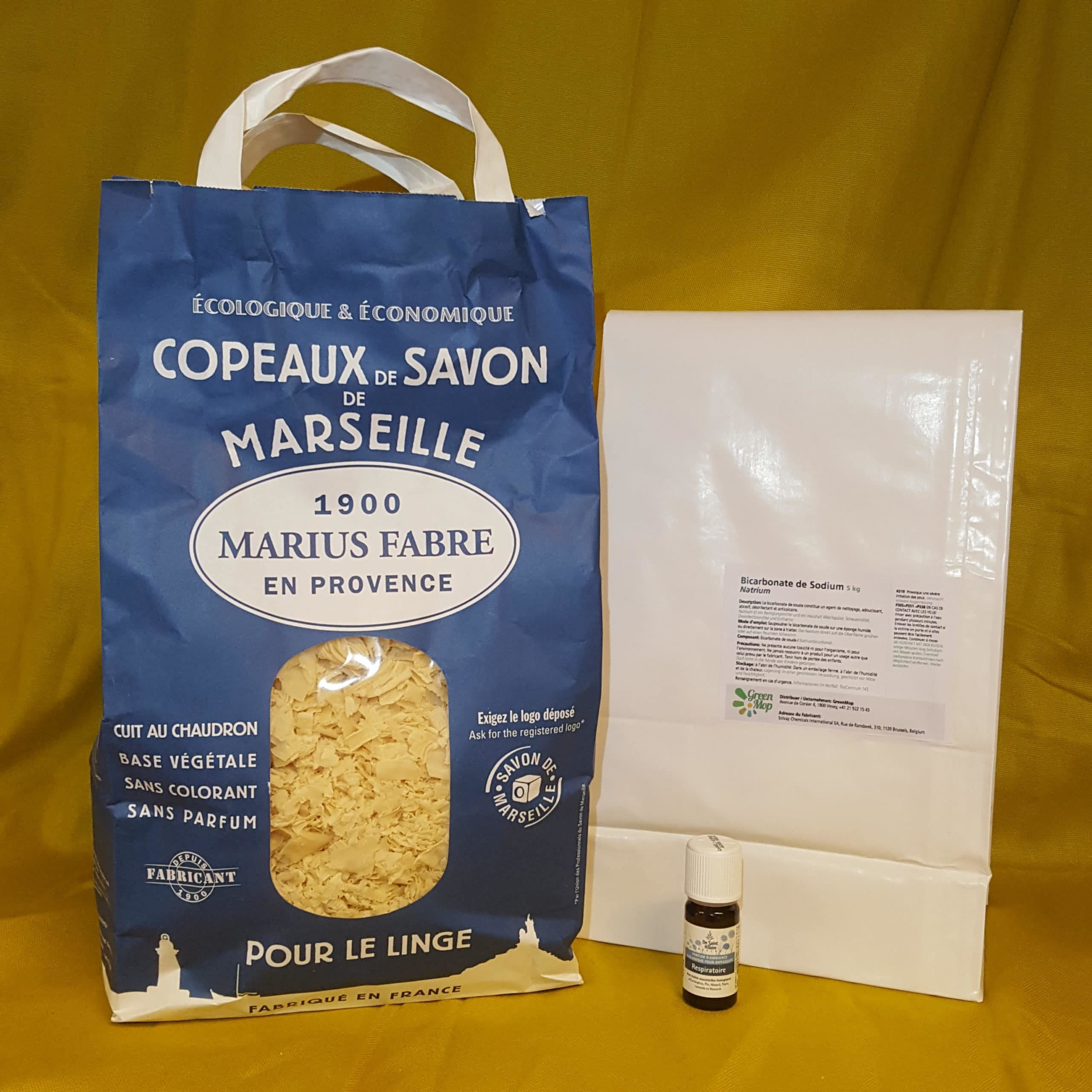Laundry pack with Soap shavings and Baking Soda