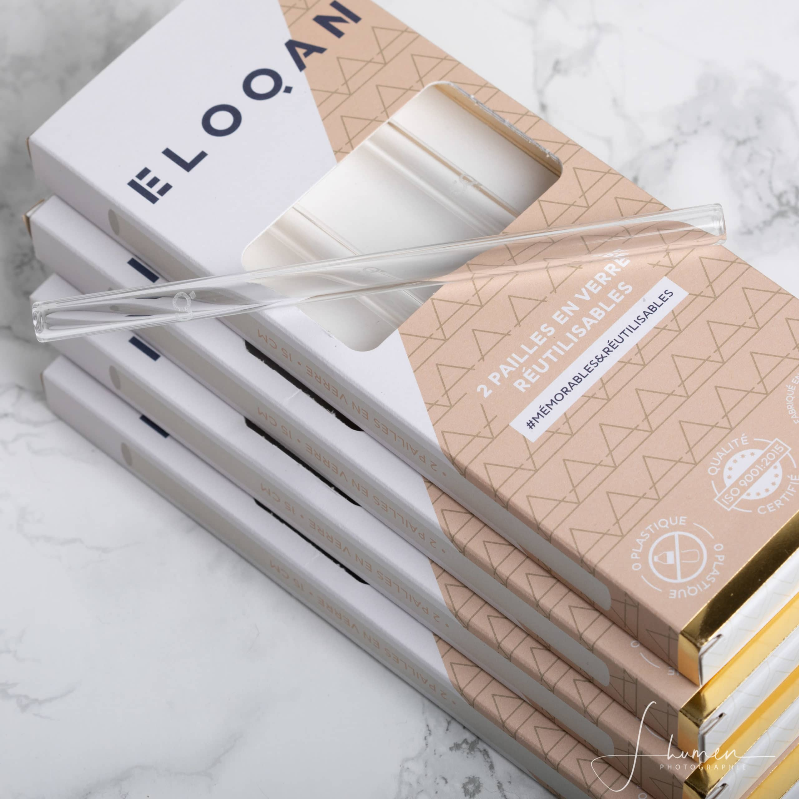 Pailles en verre – Pack Air – Eloqan