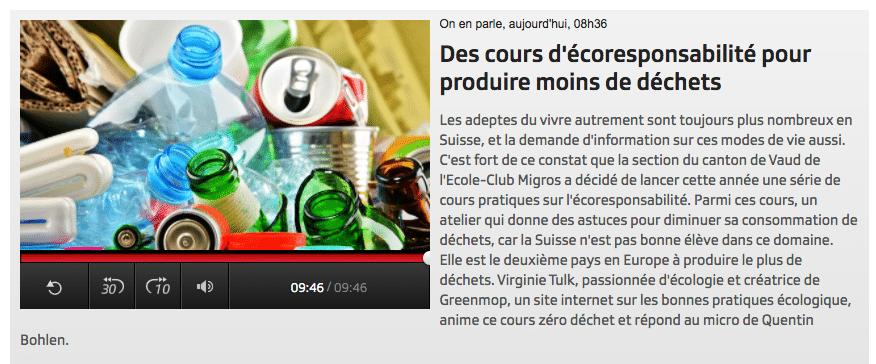 You are currently viewing Le Zéro Déchet à «On en parle»