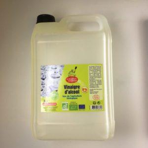 Vinaigre 5 litres, alcool Bio 8° certifié par Ecocert