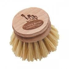 Recharge brosse vaisselle en bois et fibre