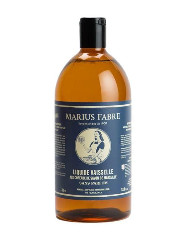 Liquide vaisselle aux copeaux de savon de Marseille 1L, sans parfum
