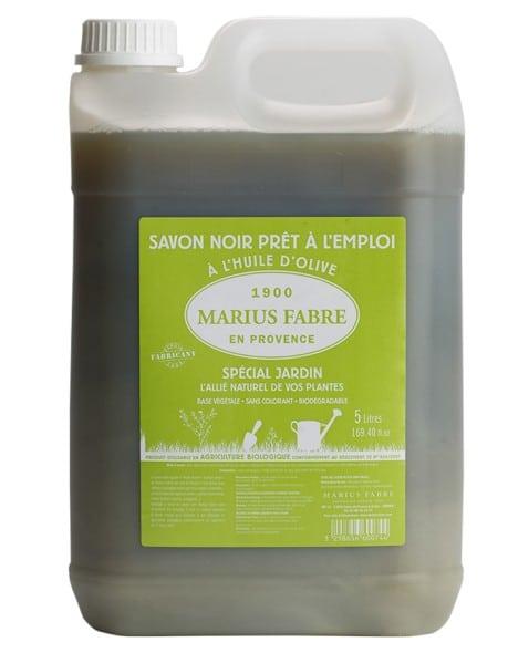 Savon noir liquide prêt à l'emploi 5L – Marius Fabre (Spécial Jardin)