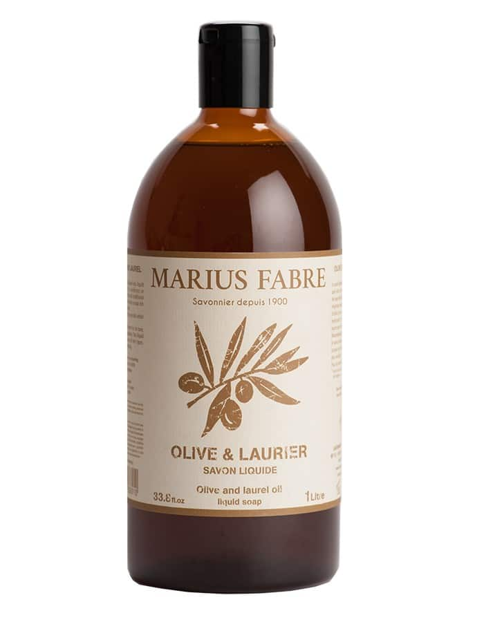 Savon liquide «Olive & Laurier» 1L – Marius Fabre (Gamme Alep)