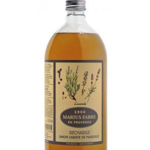 Savon liquide de Marseille, parfumé à la Lavande 1L – Marius Fabre (Gamme Herbier)