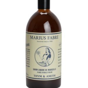 "Savon liquide de Marseille ""Thym et Aneth"" 1L – Marius Fabre (Gamme Nature)"