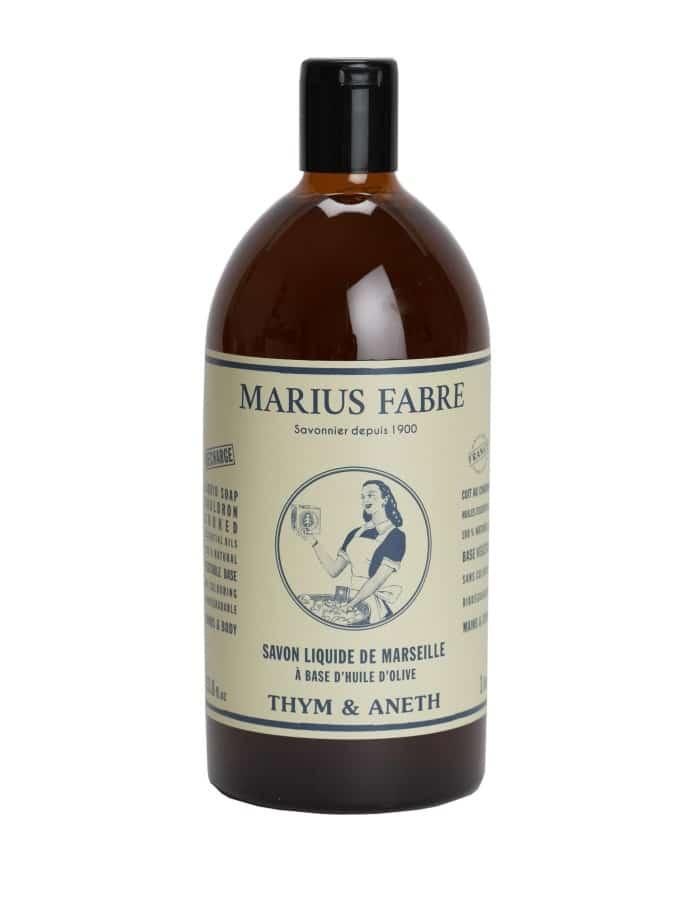Savon liquide de Marseille «Thym et Aneth» 1L – Marius Fabre (Gamme Nature)