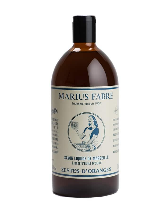 Savon liquide de Marseille «Zestes d'oranges» 1L – Marius Fabre (Gamme Nature)