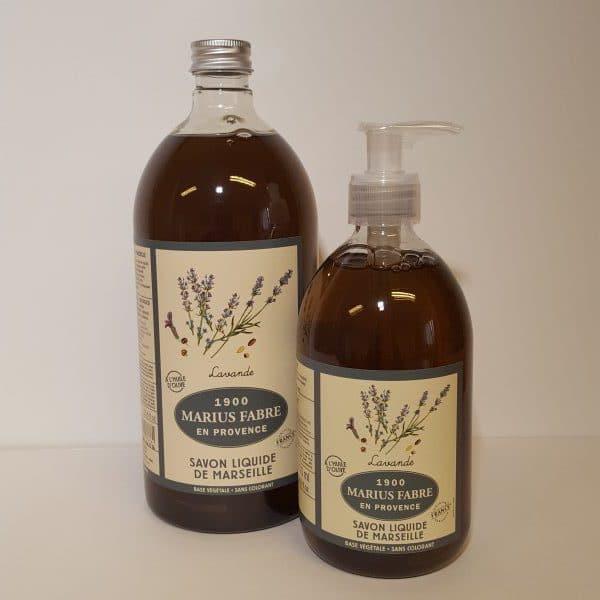 Marseilles liquid soap, lavender fragrance, 500ml + 1L