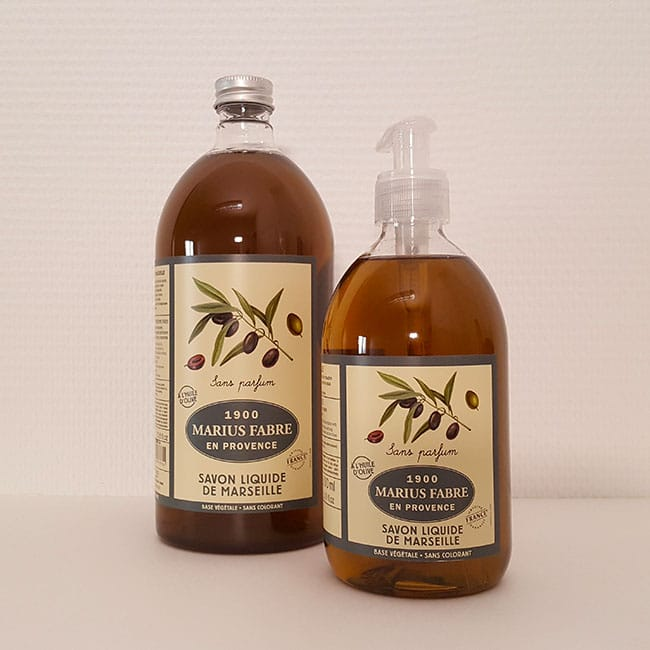 Marseilles liquid soap, no fragrance 500ml + 1l