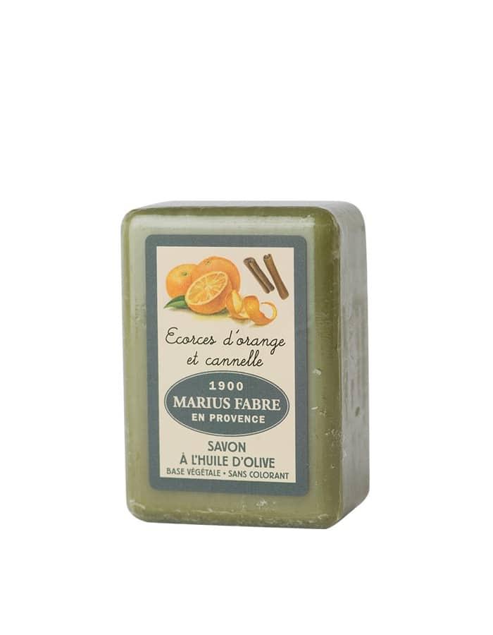 Savonnette à l'huile d'olive, aux Écorces d'Orange & à la Cannelle 150g – Marius Fabre (Gamme Herbier)
