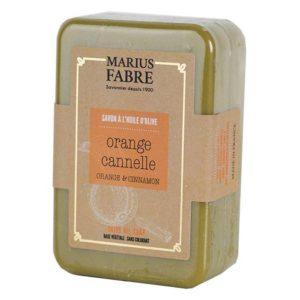 Savonnette à l'huile d'Olive, aux écorces d'Orange & à la Cannelle 250 g – Marius Fabre
