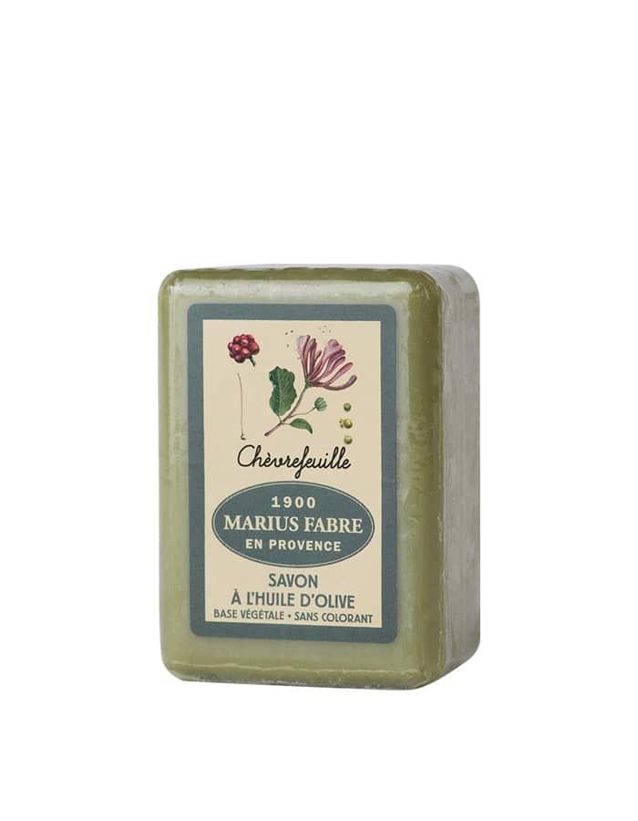 Savonnette à l'huile d'olive & au Chèvrefeuille 150g – Marius Fabre (Gamme Herbier)