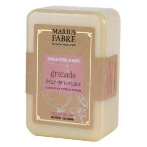 Savonnette au beurre de karité & Grenade et fleur de Cerisier 250 g – Marius Fabre