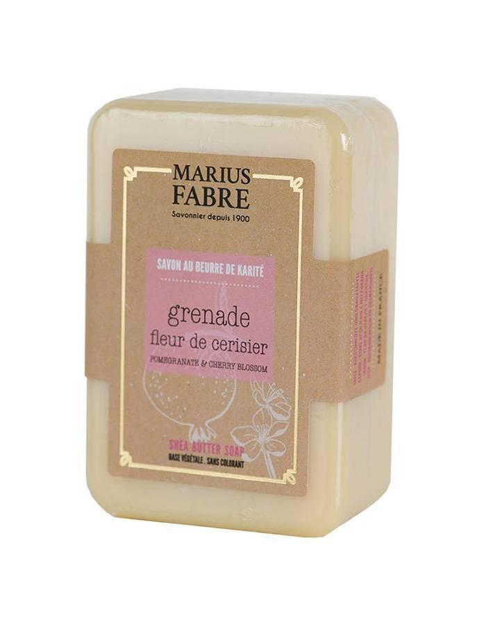 Savonnette au beurre de karité & Fleur de Cerisier et Grenade 150g – Marius Fabre