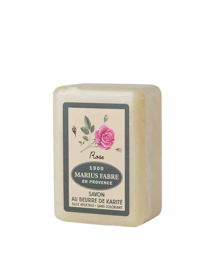 Savonnette au beurre de karité & à la Rose 150g – Marius Fabre (Gamme Herbier)